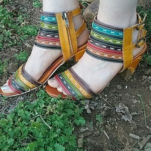 Spring Step Multicolor Heels, size 6